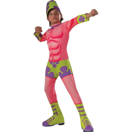 Kids Boys SpongeBob Patrick Mr. Superawesomeness Costume