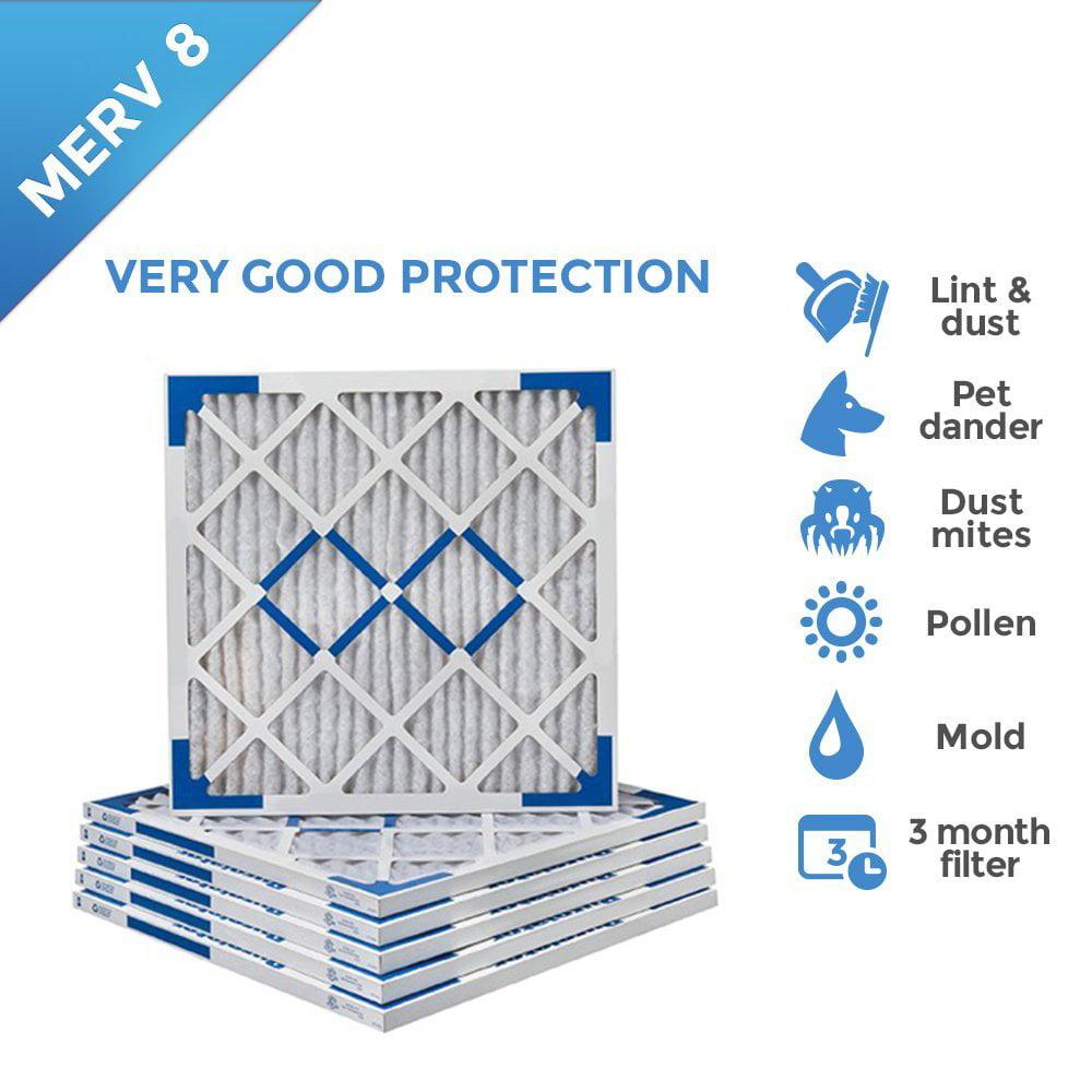 12x20x1 air filter, purolator hi-e 40 extended surface pleated air ...