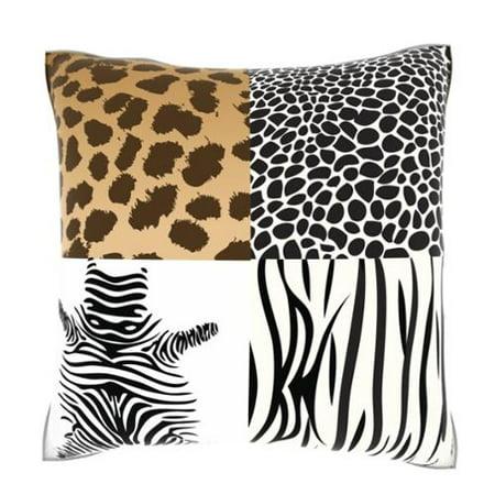 Custom Photo Factory Multiple Animal Print 18-inch Velour Throw Pillow - Walmart.com
