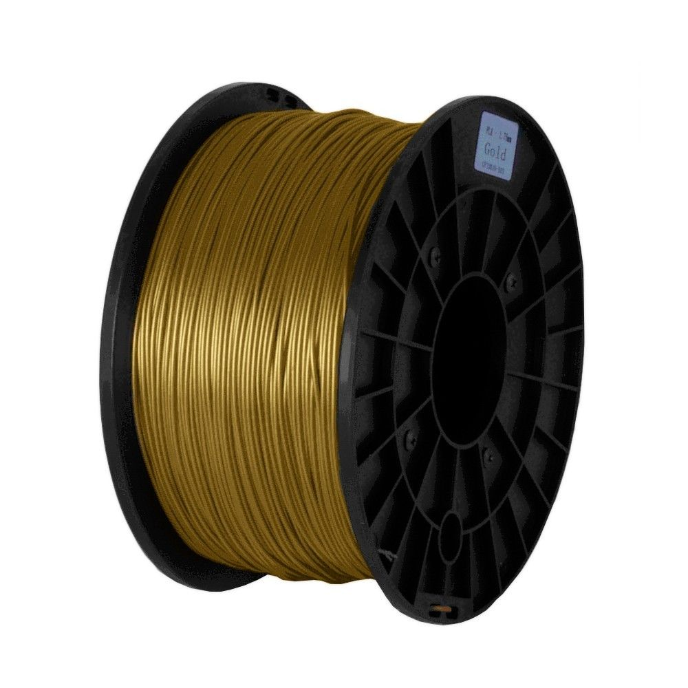 SHOP 3D Supplies PLA Gold 1.75mm 2.2 lb/1 kg Filament Printing Spool Supply for FlashForge Creator Series (PRO, X, Wood) & Fused Filament Fabrication (FFF) Printers, Reprap, Mendel, Prusa, Makerbot
