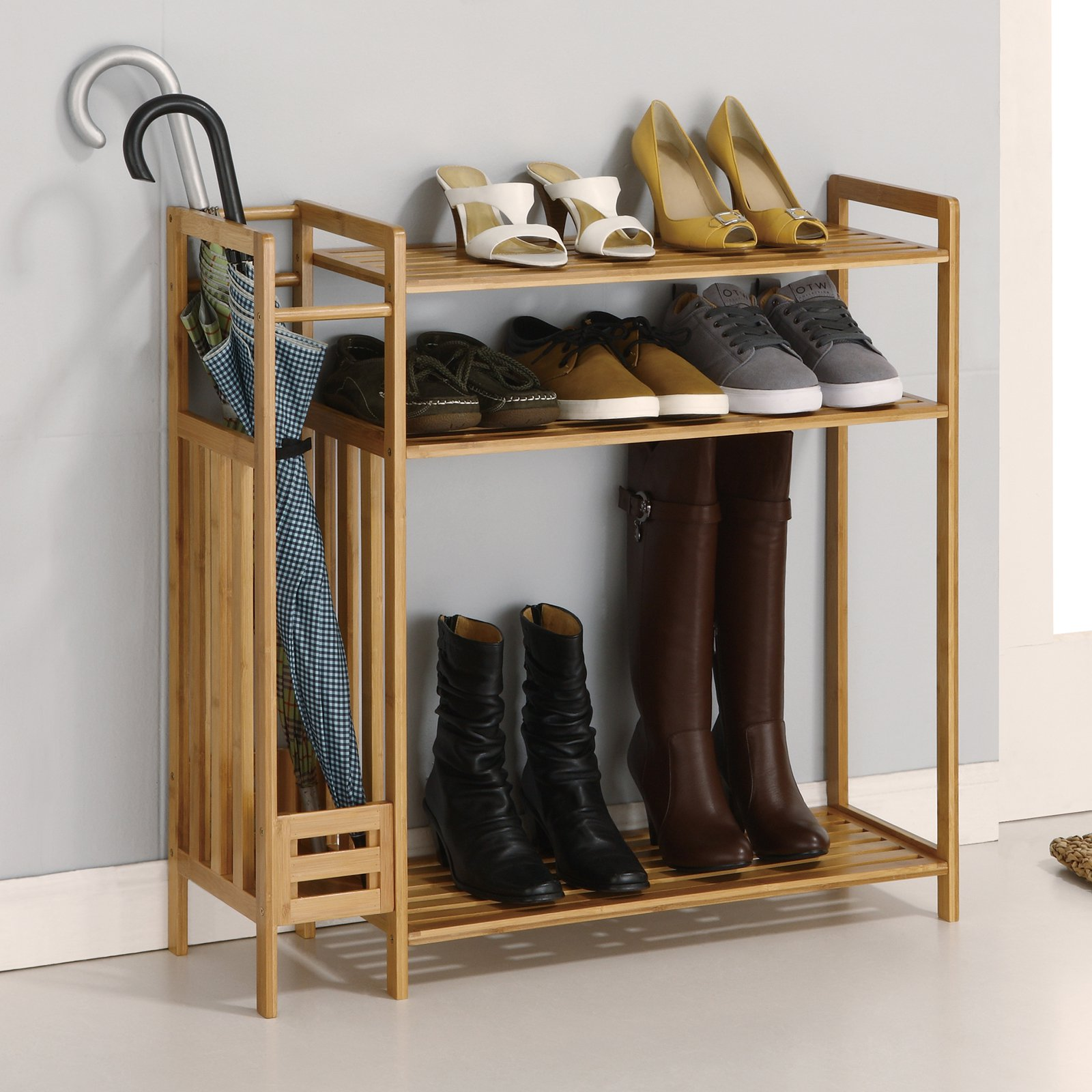 Storage Shoe Rack w. Umbrella Stand