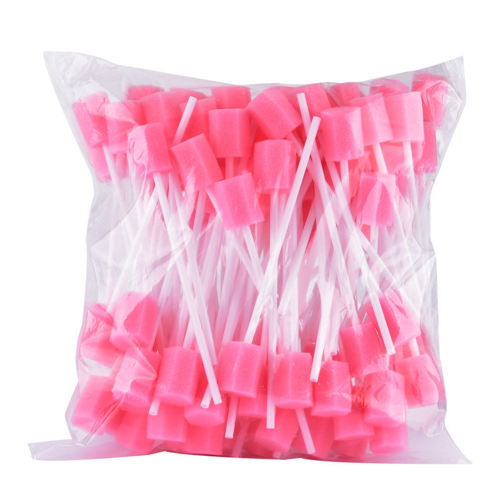 Disposable Oral Care Sponge Swab Tooth Cleaning Mouth Swabs 100pcs Dental Use
