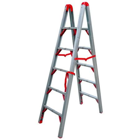 Double Sided Ladder - Telesteps 600FLD OSHA Compliant 6 ft Double sided folding step ladder (STIK)