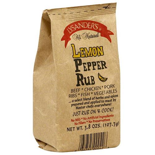 Lysander's Lemon Pepper Rub, 3.8 Oz, (pa