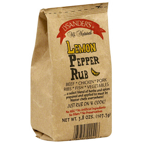 Lysander's Lemon Pepper Meat Rub, 3.8 oz, (Pack of 6)