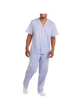 Fruit of the Loom Men's and Big Men's Short Sleeve, Long Leg Pajama Set