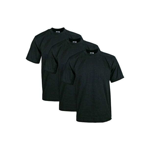 Pro Club Mens 3-Pack Heavyweight Cotton Long Sleeve Crew Neck T-Shirt