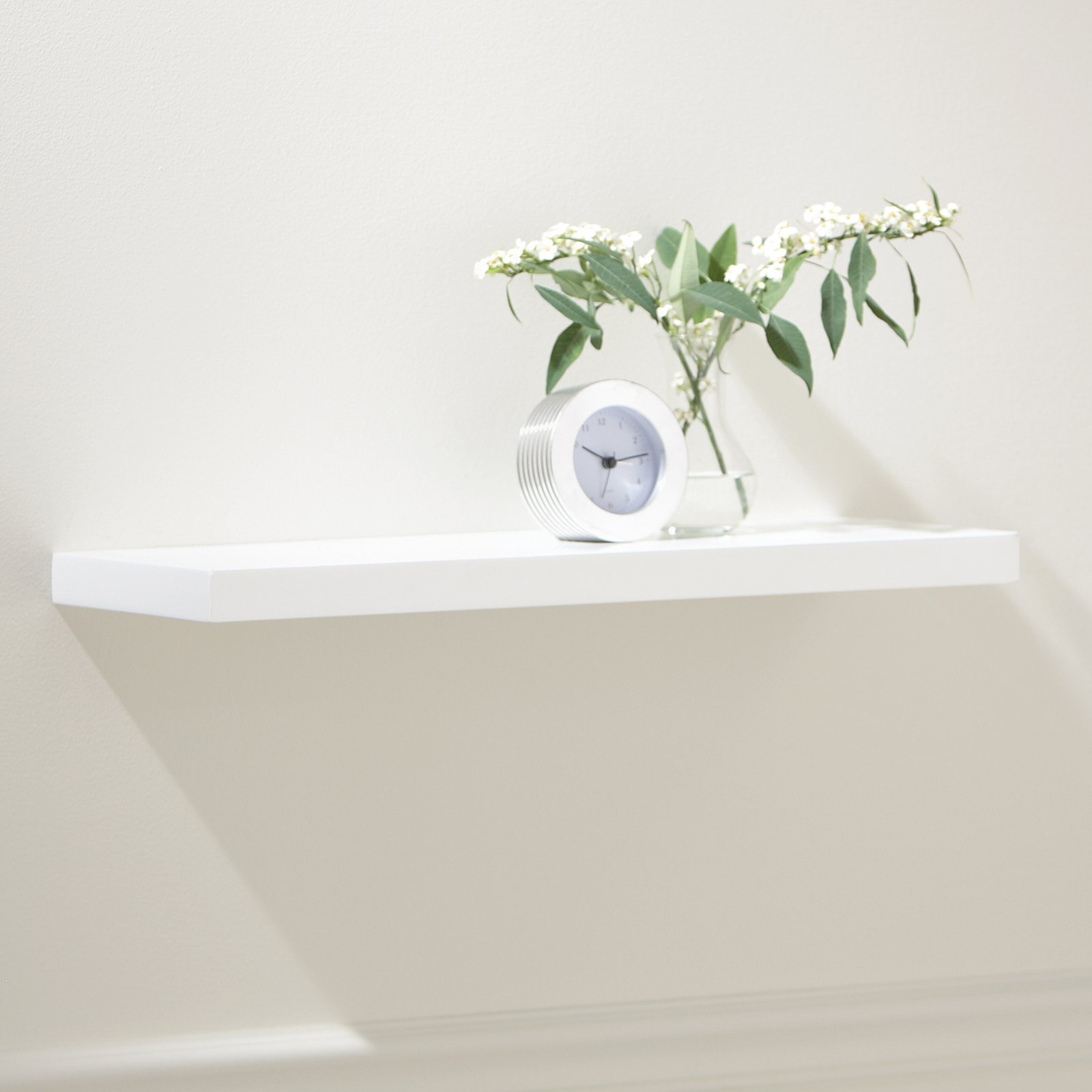 White Slim Line Floating Shelf - 24W in.