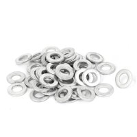 Uxcell 6mm x 12mm Zinc Plated Flat Spacers Washers Gaskets Fasteners GB97 (50-pack)