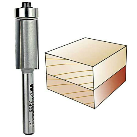 2402  Whiteside Carbide Tip  FlushTrim Router Bit 1/2CD 1CL w/B3 Bearing 1/4SH