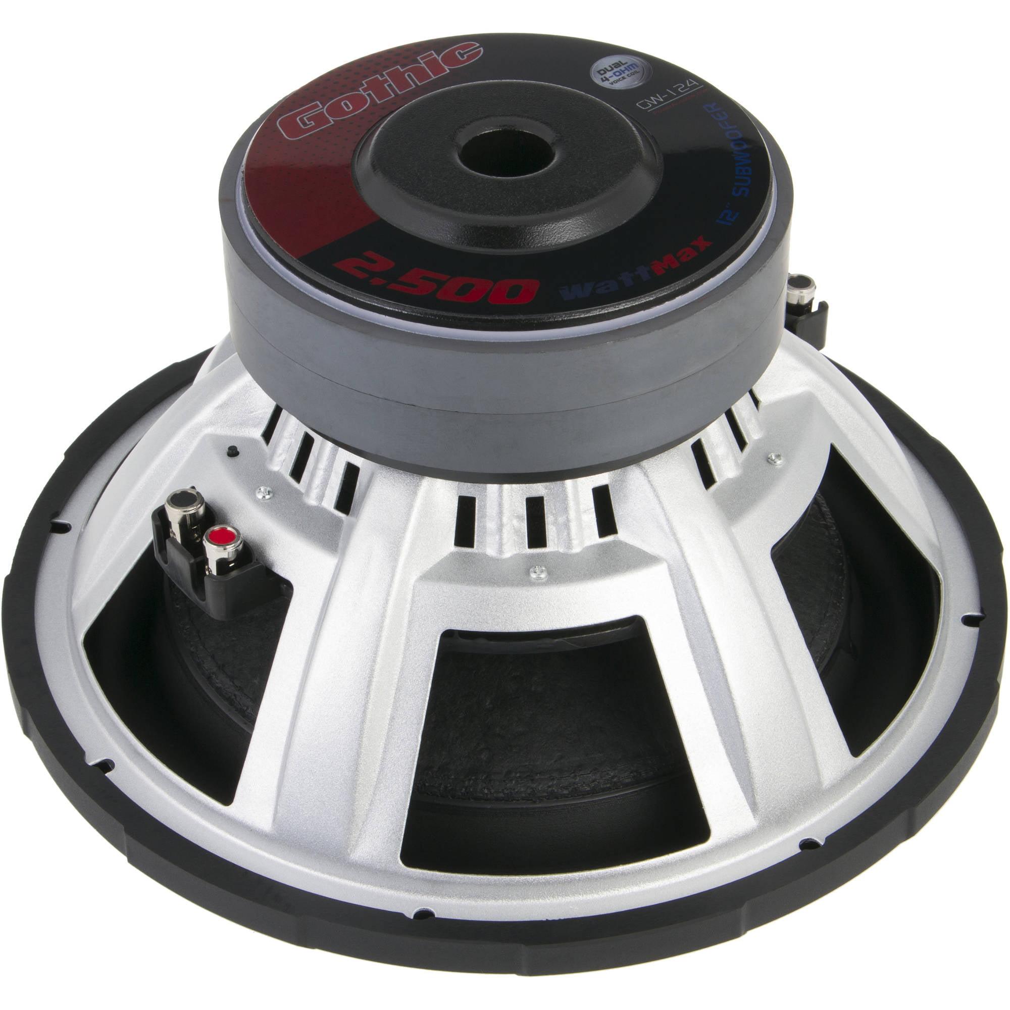 Power Acoustik Gw 124 Car 2500w Max 12 Subwoofer 2 Ohm Speaker Wiring Series Diagram