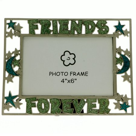 - Mi Amore 4x6in. Friends Forever Picture-Frame Green & Blue