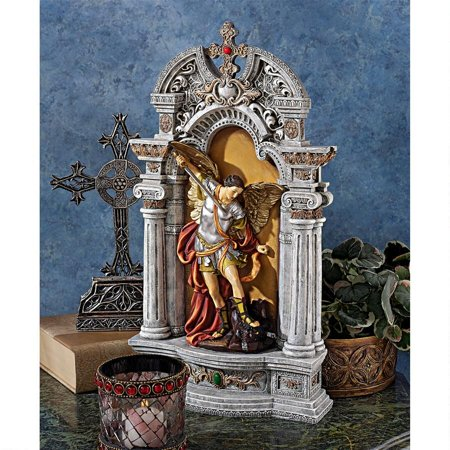 Design Toscano The Niche of St. Michael the Archangel Statue (Small St Michael Archangel Statue)