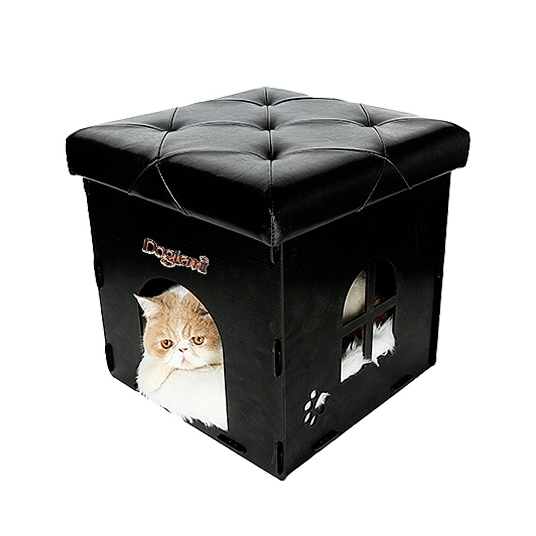 soft ottoman design cat cube house multi function pet cat