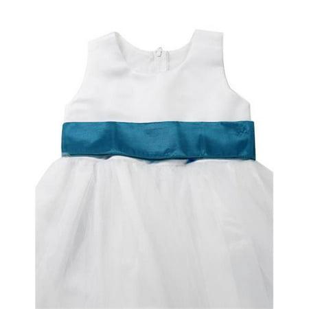Initronics F861-1310 Jade Oasis Green Flower Girl Dresses Easter Wedding Princess - Size 10, Ivory White