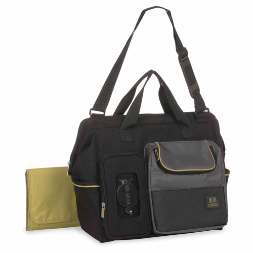 Baby Boom Clamshell Duffle Diaper Bag - Black