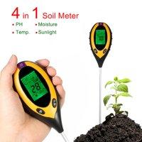 Professional 4 in 1 LCD Temperature Sunlight Moisture PH Garden Soil Tester