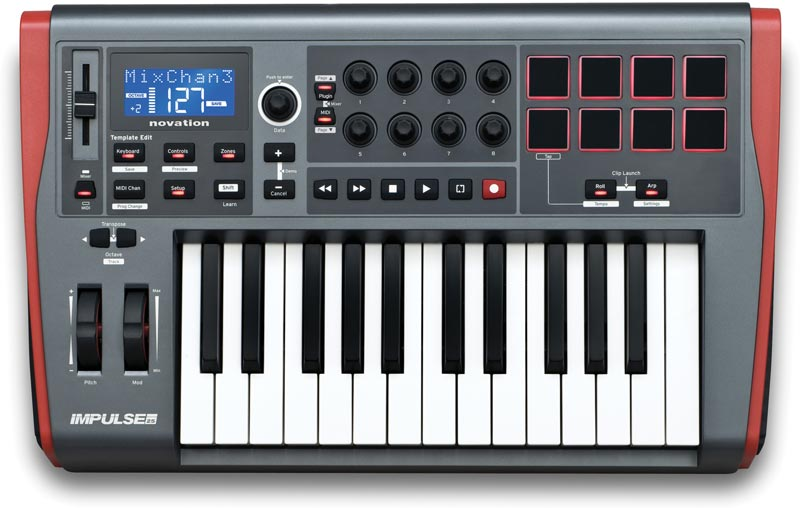 Novation Impulse 25 25-key USB MIDI Controller by Novation