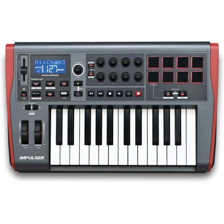 Novation - Impulse MIDI Interface/Keyboard Controller Featuring AutoMap4 (25