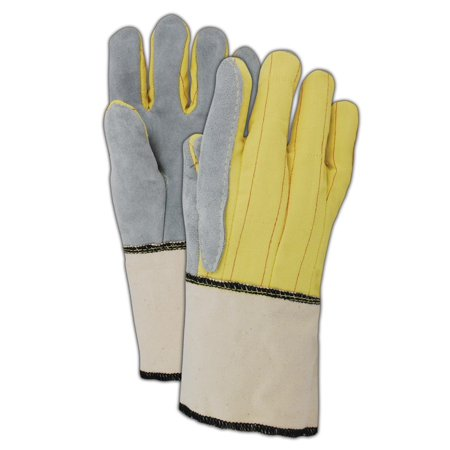 Magid K40G 20 oz. Kevlar Hot Mill Gloves with Band Top Cuff, 12 Pair