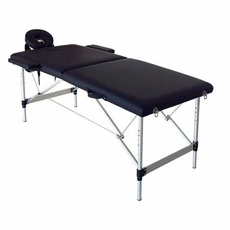 2 Sections Folding Portable SPA Bodybuilding Massage Bed with Carrying Bag for SPA Beauty