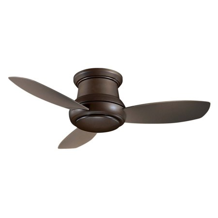 Minka Aire Concept Ii 52' LED Flush Mount Ceiling Fan, Bronze - F519L-ORB ()