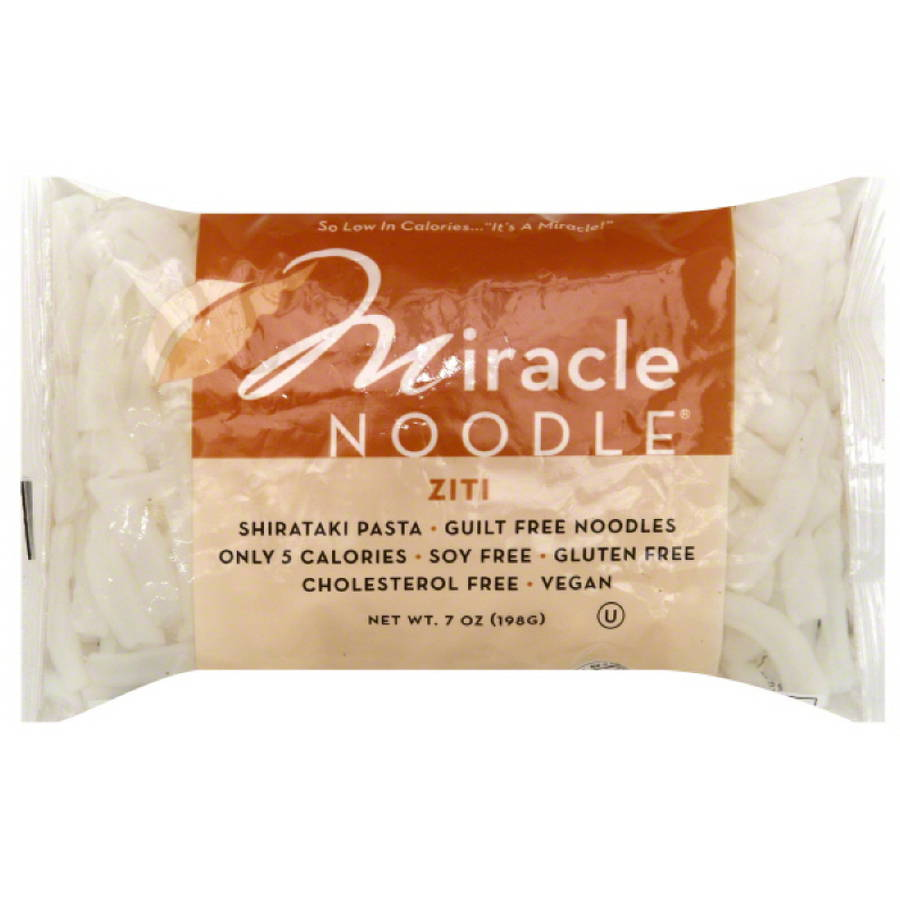 Miracle Noodle Ziti Pasta, 7 oz, (Pack of 6)