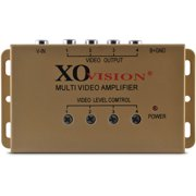 XO Vision AMP419 1-In/4-Out Car Video Amplifier (Gold)