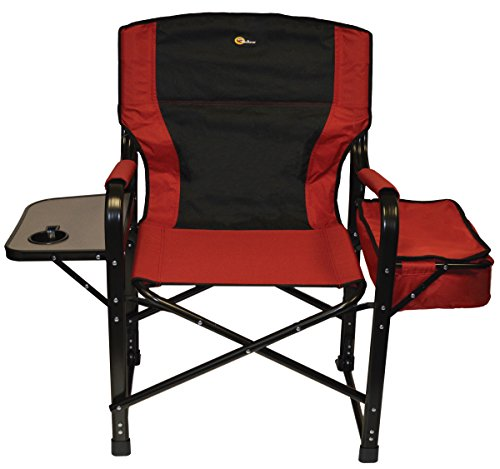 faulkner el capitan folding director chair with tray and cooler bag