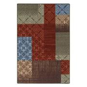 Mainstays Payton Multicolor Nylon Loop Pile Print Area Rug or Runner, Multi, 5' x 7'