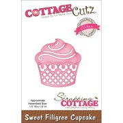 "CottageCutz Elites Die, 1.5"" x 1.6"", Sweet Filigree Cupcake"