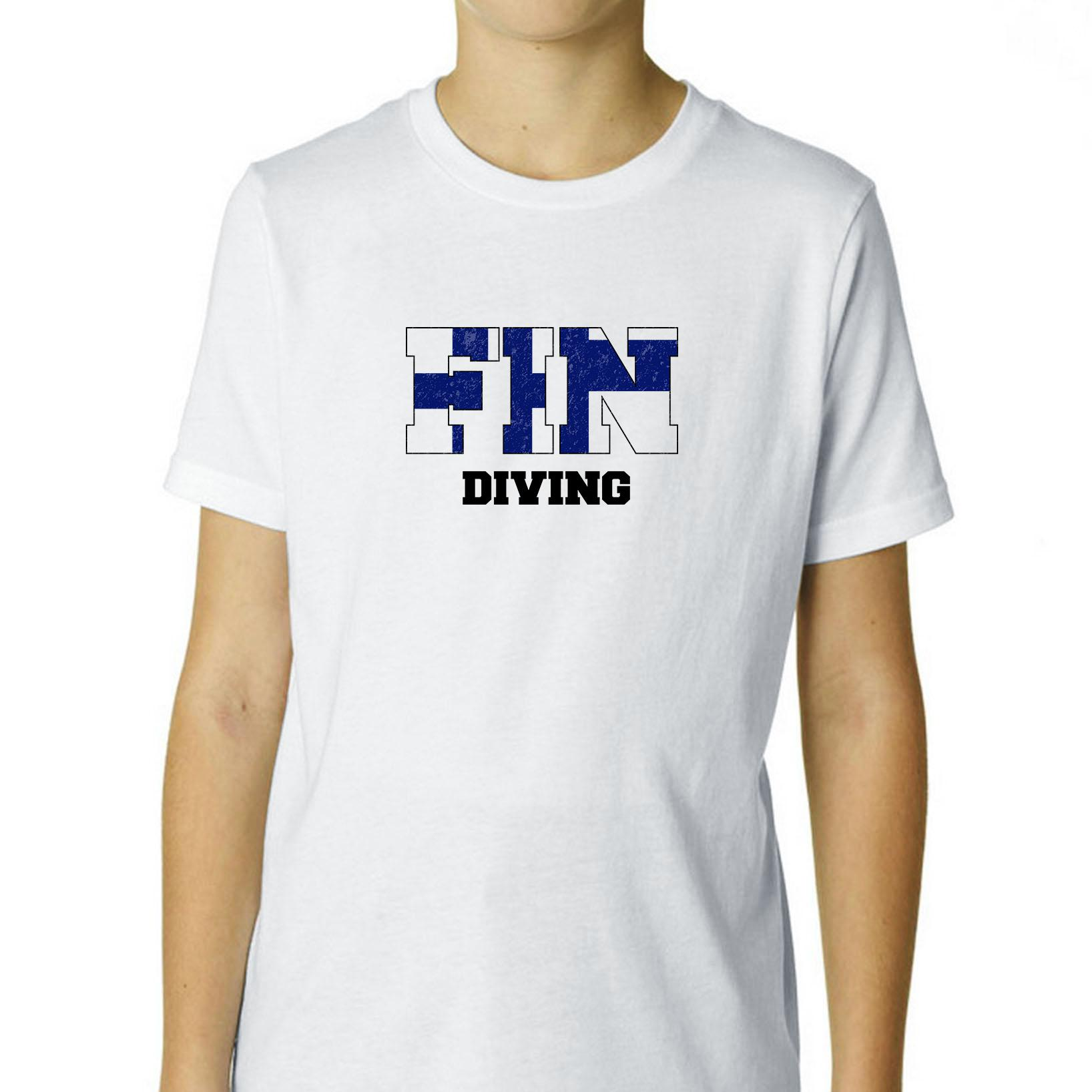 Finland Diving - Olympic Games - Rio - Flag Boy's Cotton Youth T-Shirt