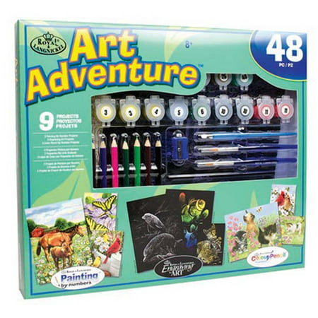 Royal & Langnickel Art Adventure Super Value Set - 9 Projects, 48pc - Cardboard Art Projects