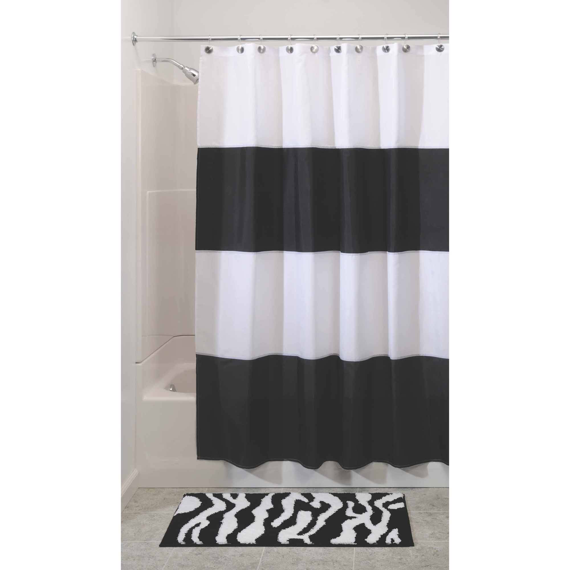 InterDesign Zeno Mildew-Free Water-Repellent Shower Curtain
