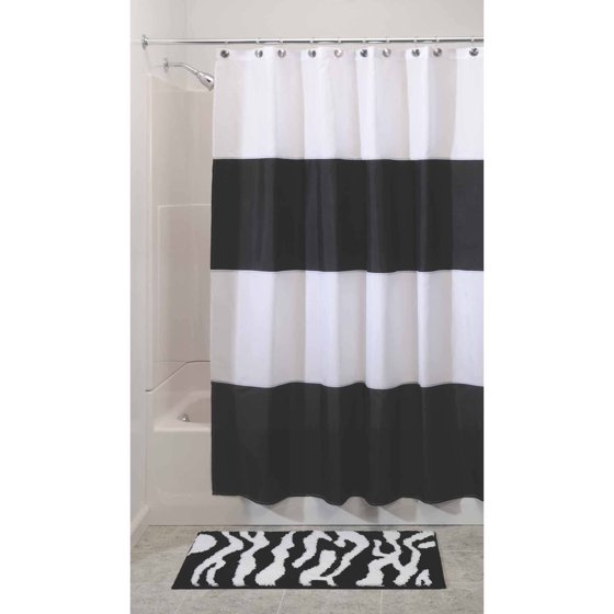 InterDesign Zeno Mildew-Free Water-Repellent Shower Curtain ...