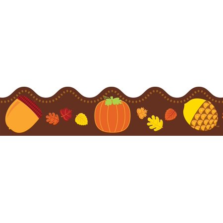 Acorns & Pumpkins Scalloped Borders