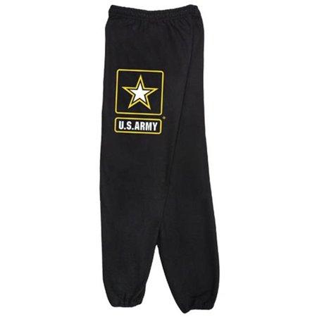 Army Sweatpants (Fox Outdoor 64-757 XXL Mens United State Army Star One Sided imprint Sweatpant, Grey - 2 XL )