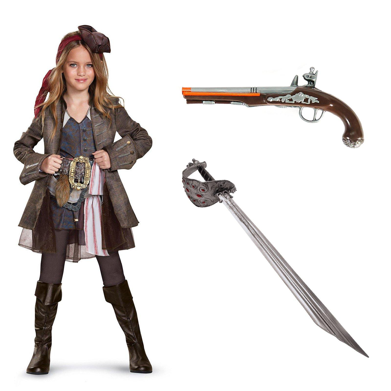 Pirates of the Carribean Captain Jack Girl's Deluxe Costume Kit by DISG
