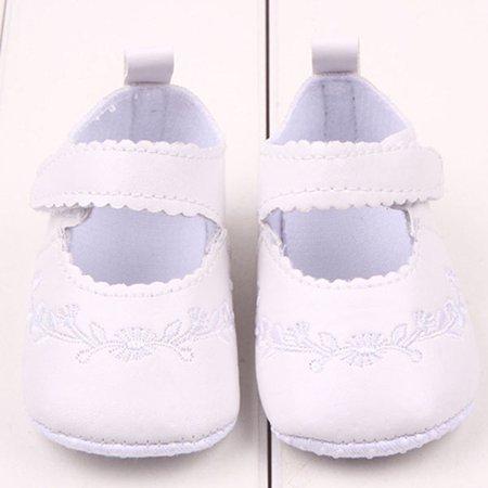 Kacakid Baby Pu Leather Toddler Girl Prewalker Princess Crib Shoes