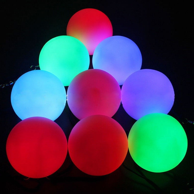 Pro LED Multi-Coloured Glow POI Thrown Balls Light For Belly Dance Hand Props UK
