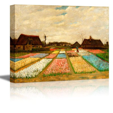 Dutch Flour - wall26 Bulb Fields (Also Called Flower Beds in Holland) by Vincent Van Gogh - Oil Painting Reproduction on Canvas Prints Wall Art, Ready to Hang - 32