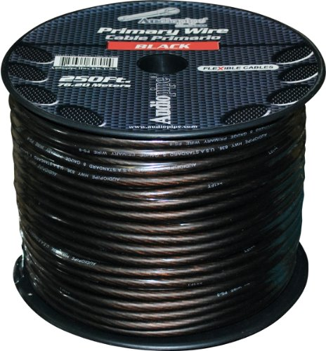 Audiopipe PW8BK Power Wire Audiopipe 8ga 250' Black