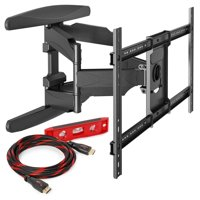 """Heavy-Duty Full Motion TV Wall Mount - Articulating Swivel Bracket Fits Flat Screen Televisions from 42"""" to 70"""" (VESA 400 x 600 Compatible) - Tilt Swing Out Arm with 10' HDMI Cable"""