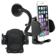 Insten Cell Phone Car Mount Windshield Dashboard Phone Holder For iPhone XS X 7 8 6 6S Plus Samsung Galaxy S10 S10e S9 S8 S7 S6 J7 J5 J3 Plus Edge LG Stylo 4 Universal Smartphone