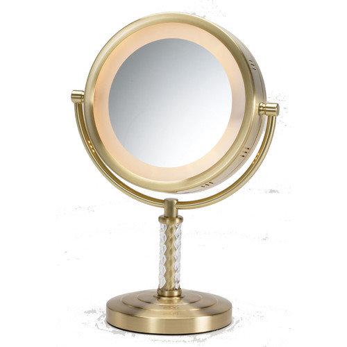 Jerdon Dual Sided Halo Lighted Vanity Mirror