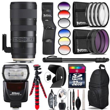 Tamron 70-200mm G2 for Nikon + SB-700 AF Speedlight - 32GB Accessory