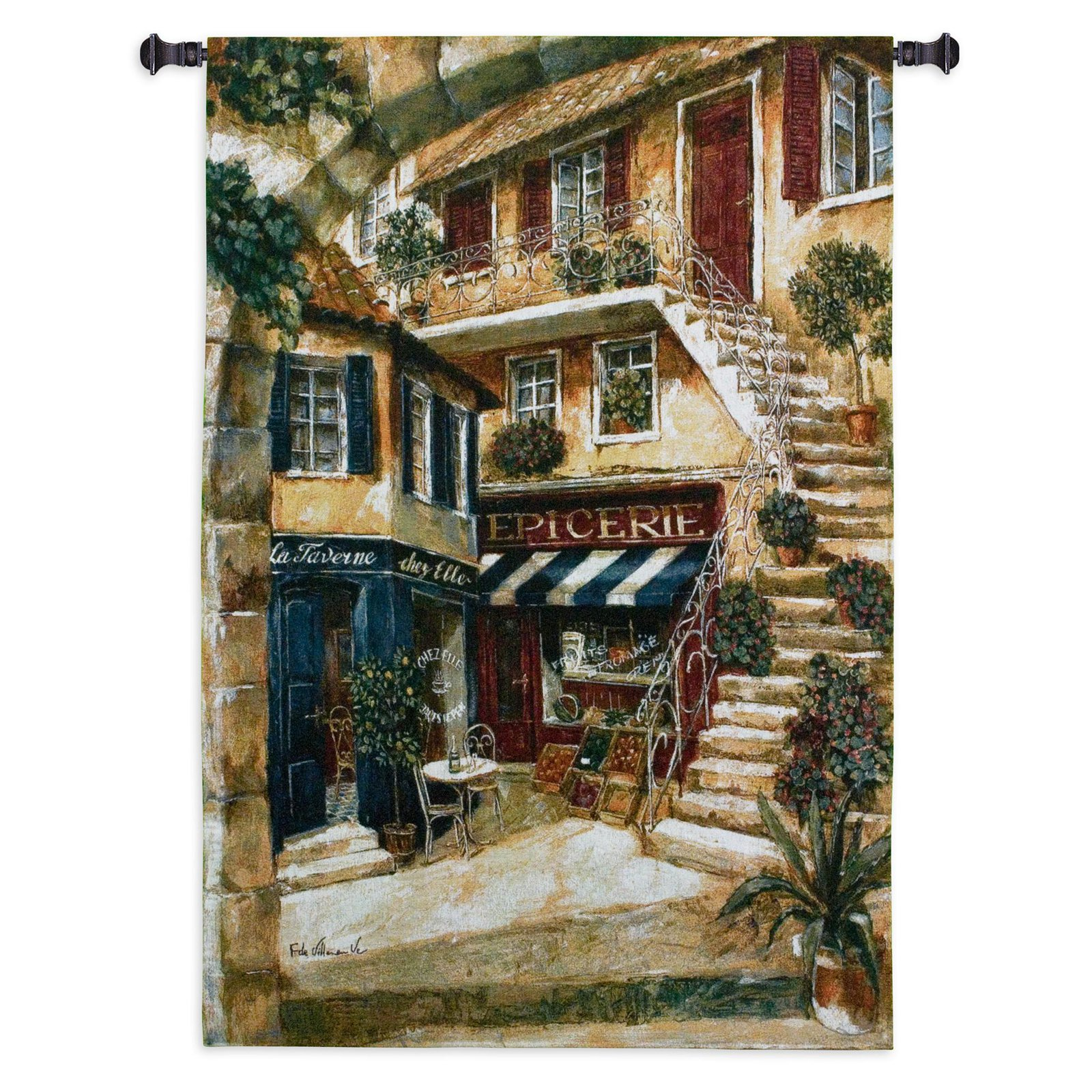 Fine Art Tapestries La Taverne Chez Elle Wall Tapestry by Supplier Generic