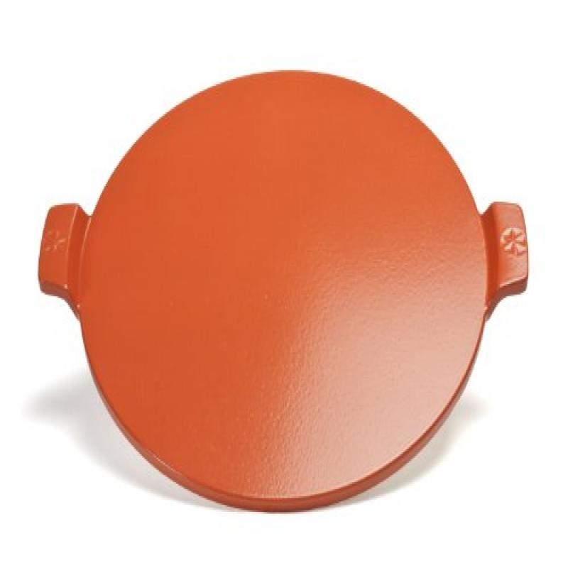 14-inch Glazed Pizza Stone With Handles by Pizzacraft