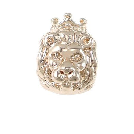 Lion Shoe Charm (Lion King of the jungle Charm Bead for European Snake Chain Charm)