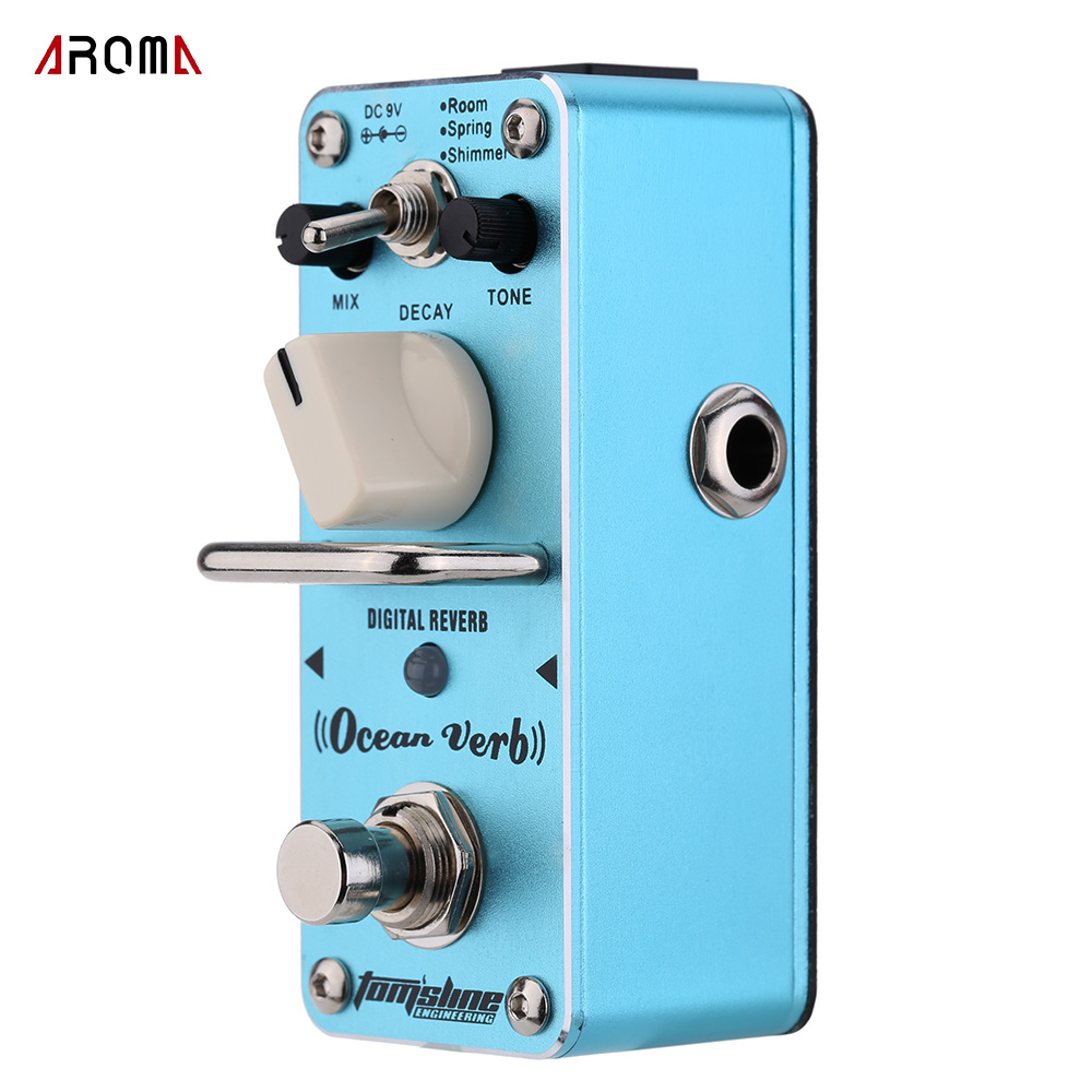 AROMA AOV-3 Ocean Verb Digital Reverb Electric Guitar Effect Pedal Mini Single Effect with... by